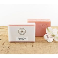 Tuscan Sun Soap Pink Soap, Handmade Soap, Cold Process Soap,... ($6) ❤ liked on Polyvore featuring beauty products, bath & body products and body cleansers
