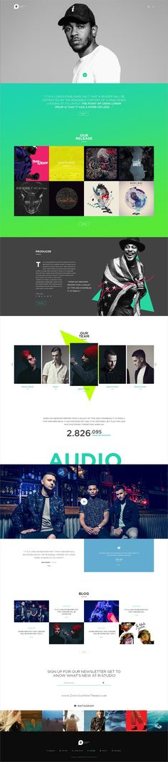 Buy Recording Studio WordPress Theme - DJ / Producer / Music / Soundtrack / Artist / Entertainment by Beautheme on ThemeForest. Recording is a powerful and understanding, modern and stunning design, highly and easily customizable, ready for all . Entertainment Websites, Studio Layout, Mobile Web Design, Presentation Layout, Web Inspiration, Recording Studio, Music Industry, Soundtrack, Wordpress Theme