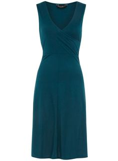 Teal wrap jersey dress - Casual Dresses - Dresses