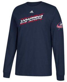 da3d952e9 adidas Men s Columbus Blue Jackets Line Shift Long Sleeve T-Shirt - Blue  XXL Columbus