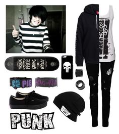 """""""Skateboarding- Riot"""" by thugpug2003 ❤ liked on Polyvore featuring Religion Clothing and Vans"""