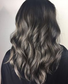 Smokey Silver Balayage | Hair by @erinm_hair | juju hair lounge Vancouver, BC, Canada @jujuhairlounge
