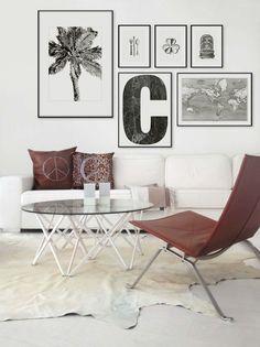 Inspiration till tavelväggar och tavelcollage   Hänga tavlor
