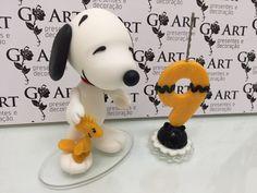 Topo de bolo Snoopy + vela