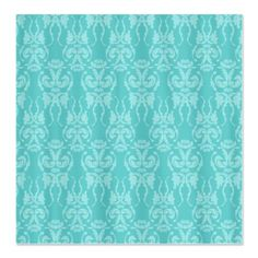Tiffany Teal Damask Shower Curtain