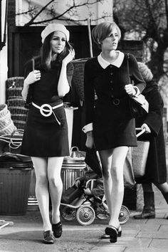 Retro Fashion vintage everyday: MOD: Fashion Characteristic of British Young People in the 70s Mode, Retro Mode, Vintage Mode, Retro Vintage, Vintage Style, Vintage Inspired, Foto Fashion, Fashion Mode, Fashion History