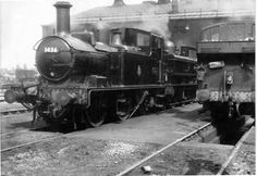 An 0-4-2 T Steam Loco from the 1950s 14XX Class 0-4-2T No.1436 presents a grand sight standing on Southall MPD in June 1957. Photo: L.C.Jacks No.1436 was built at Swindon in 1934 and withdrawn 31-1...