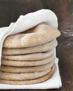 homemade whole wheat pita bread