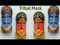DIY Tribal Mask from Plastic Bottle Craft from waste Waste Bottle Craft, Plastic Bottle Crafts, Plastic Art, Wine Bottle Crafts, Recycle Plastic Bottles, Bee Crafts, Diy Arts And Crafts, Craft Stick Crafts, Clay Crafts