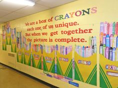 17 Best Images About Crayon Classroom Decoration Boxes Crayon Box And The O Jays 17 best ideas about Crayon Bulletin Boards, Kindergarten Bulletin Boards, School Hallway Decorations, Art Room Posters, School Library Displays, Elementary Art, Elementary Education, Childhood Education, School Hallways