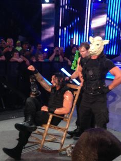 rickytreble:  The Shield after the dark match of tonight's SmackDown taping (Feb. 11, 2014) (x)  SETH FUCKING ROLLINS OH MY GOD