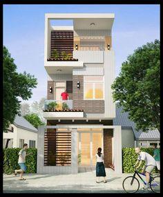 Kiến trúc nhà đẹp 2 tầng 4.5x15m mái bằng  http://maunhadepmoi.com/kien-truc-nha-dep-2-tang-4-5x15m-mai-bang-co-3-phong-ngu-voi-noi-that-sang-trong.html