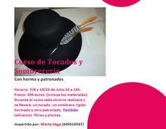 De Tacones y Bolsos: 2 º taller de sombrerería por Marta Vega. 7 y 8 de julio. Apúntate ya!!