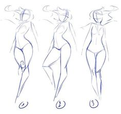 Dynamic hair female poses