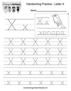 Free Kindergarten Writing Worksheets - Learning to write the alphabet. Alphabet Writing Worksheets, English Worksheets For Kindergarten, Letter Worksheets For Preschool, Kindergarten Writing, Tracing Worksheets, Alphabet Activities, Handwriting Practice Worksheets, Handwriting Alphabet, Learning To Write