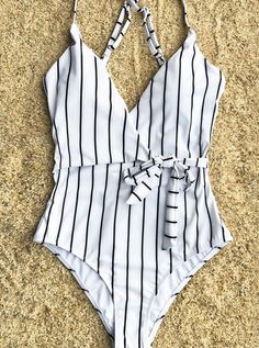 Swimsuit: Cupshe Stay Young Stripe One-piece Swimsuit .- Maillot de bain : Cupshe Stay Young Stripe One-piece Swimsuit Idea and inspiration swimsuit trend 2017 Image Description Cupshe Stay Young Stripe One-piece Swimsuit - Bikini Sets, Bikini Modells, Bikini Beach, Cute Swimsuits, Women Swimsuits, Fashion Swimsuits, Flattering Swimsuits, Striped One Piece, One Piece Swimsuit Striped