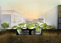 Biocover by Marta Musial parametric design architecture urban landscape