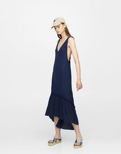 Midi dress with knot in back - New - Woman - PULL&BEAR Romania