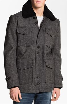 PLECTRUM by Ben Sherman Shearling Collar Field Jacket available at #Nordstrom