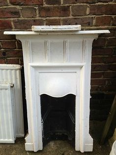 Victorian Fireplace- cast iron | eBay Bedroom Fireplace, Faux Fireplace, Fireplace Mantle, Fireplace Design, Victorian Fireplace, Fire Places, Washers, Headboards, My Room