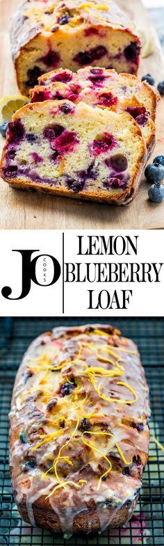 This lemon blueberry yogurt loaf is moist and delicious with just the right amount of blueberries and lemon. Enjoy a slice for dessert today, perfect with tea or coffee!