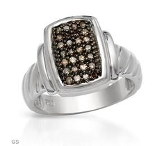 0.2 CTW Diamonds Sterling Silver Ring $90.50