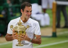 With 19 majors Roger Federer leaves tennis — and golf — rivals in the dust Us Open Final, Wimbledon 2017, Roger Federer, Tennis Players, Champs, Athlete, Twitter, Health, Health Care
