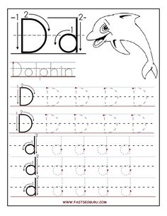 the letter dd worksheets for kindergarten download or right click the image to save - Kindergarten Tracing Pages