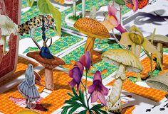 Alice no país das maravilhas ilustração Luiz Zerbini Editora Cosac Naify