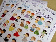 Jane Austen  Pride and Prejudice Marathon by PemberleyPond on Etsy, $15.00 I LOVE this!