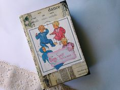 Vintage unisex baby junk journal by thepaperdreamingshop on Etsy https://www.etsy.com/listing/209934775/vintage-unisex-baby-junk-journal