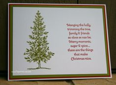 Stampin Up Trimming the Tree 1