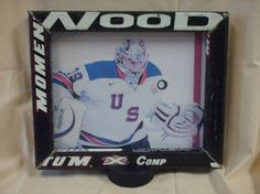 Picture frame made from real hockey stick. (Click link to view more sticks)
