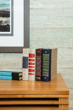 MyWoodWall Brushed Grain Green Tea wood wall panels Wood Panel Walls, Wood Paneling, Wood Wall, Easy Peel, Wall Outlets, Real Wood, Adhesive, Tea, Interior