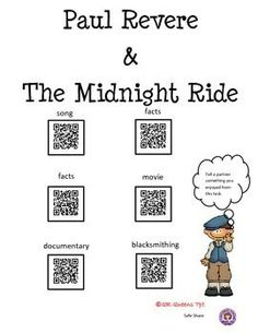 PEOPLE IN HISTORY USING QR CODES (REVERE, BETHUNE, CHAVEZ, KELLER, SB ANTHONY) - 3rd - 5th $ Great for centers and early finishers. Such a fun way to learn with differentiation for students using technology! A lot of QR Codes for the money!
