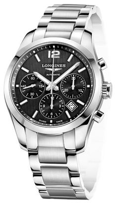 Longines Watch Conquest Classic Mens #bezel-fixed #bracelet-strap-steel #brand-longines #case-material-steel #case-width-41mm #chronograph-yes #date-yes #delivery-timescale-1-2-weeks #description-done #dial-colour-black #discount-code-allow #gender-mens #l27864566 #luxury #movement-automatic #official-stockist-for-longines-watches #packaging-longines-watch-packaging #style-dress #subcat-conquest #supplier-model-no-l2-786-4-56-6 #warranty-longines-official-2-year-guarantee…