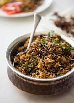 Mejadra - A aromatic Middle Eastern Rice and Lentil Pilaf. A recipe by Yotam Ottolenghi. www.recipetineats.com