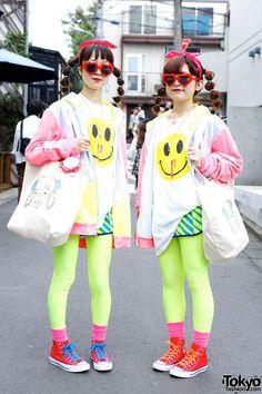 Hennyo Girls in Twin Harajuku Styles w/ Lactose Intoler-art & Madsaki Hennyo Girls in Harajuku – Tokyo Fashion News