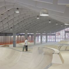 Today's object of obsession: shed conversions. Zap' Ados Skate Park in Calais by Bang Architectes