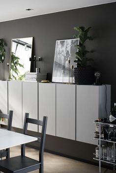Painted Ikea 'Ivar' cabinets Painted Ikea 'Ivar' cabinets Our new basement cabinets! We used Ikea Besta…Schrank IVAR Kiefer – Lisa CorvusHej bei IKEA Österreich – Tatjana Buchorn Ikea Ivar Cabinet, Ikea Bookcase, Bookcases, Ikea Living Room, Interior Design Living Room, Interior Decorating, Decorating Tips, Ikea Eket, Home And Living