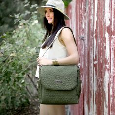 Petunia Pickle Bottom Diaper Bag Boxy Backpack Embossed Regents Park Stop @Layla Grayce