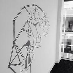 Office wall art #demolition #doodles