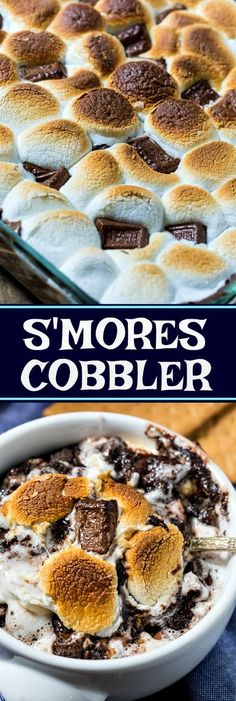 S'mores Cobbler makes a fantastic summer dessert!