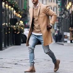Litthing New Men Trench Coat Winter Slim Fit Pea Wool Coat Men Leisure Long Sections Coats Pure Color Casual Fashion Overcoats Style Blog, Luxury Mens Clothing, Men's Clothing, Mens Wool Coats, Winter Trench Coat, Stylish Coat, Lauren, Parka Men, Parka Coat