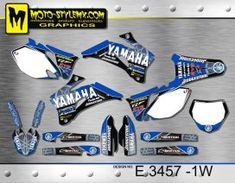 Yamaha YZf 250-450 '06-'09 - Moto-StyleMX - graphics decals kits Yamaha Yzf, Custom Design, Decals, Graphics, Kit, Formal Suits, Motorbikes, Tags, Graphic Design