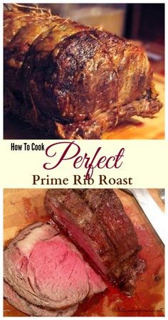 How To Cook Perfect Prime Rib Roast - Purchasing, Prepping, Cooking Temp Charts, Carving & Side Dishes! this is the ultimate info on Prime rib roast Beef Dishes, Food Dishes, Main Dishes, Meat Dish, Rib Recipes, Cooking Recipes, What's Cooking, Recipies, Dinner Recipes