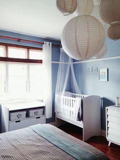 Suburbs mama nursery in master bedroom kindergarten science pinterest we master bedrooms Master bedroom shared with nursery