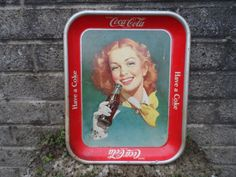 Vintage Coke  Coca-Cola advertising tin tray  by EmpireAntiques