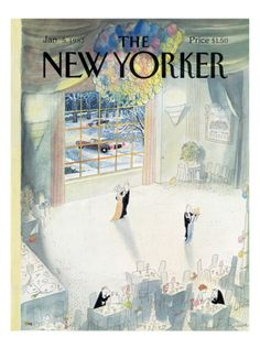 The New Yorker Cover - January 5, 1987 Giclee Print by Jean-Jacques Sempé at Art.com