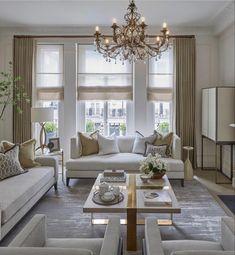 Glam Living Room, Classic Living Room, Elegant Living Room, Formal Living Rooms, Living Room Sofa, Interior Design Living Room, Home And Living, Living Room Designs, Living Room Decor